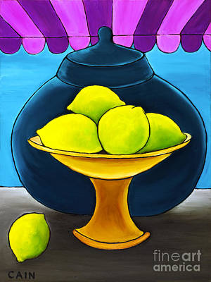 Painting - Lemons by William Cain