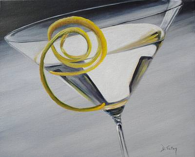 Lemontini Print by Donna Tuten