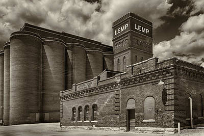 Lemp Brewery Photograph - Lemp And Western Cable Railroad Sepia Dsc06463 by Greg Kluempers