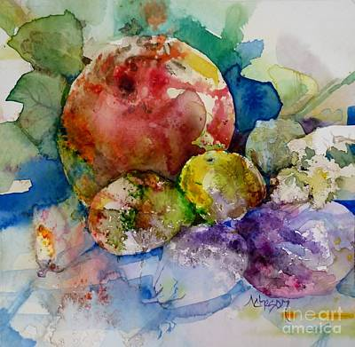 Painting - L'empreint D'un Fruit by Donna Acheson-Juillet