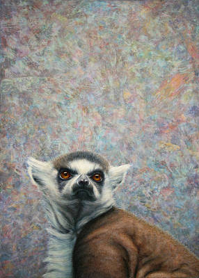 Ring-tailed Lemur Painting - Lemur by James W Johnson