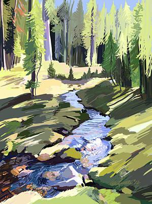 Lena Peak Stream Art Print