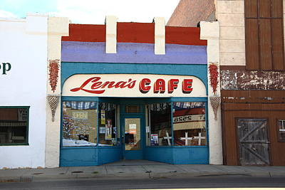 Photograph - Lena's Cafe by Frank Romeo