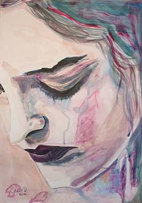 Portrait Painting - L'encre De Tes Yeux by Christel  Roelandt
