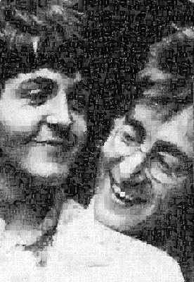 Lennon And Mccartney Mosaic Image 1 Art Print by Steve Kearns