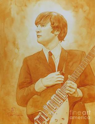 Lennon Gold Art Print by Robert Hooper