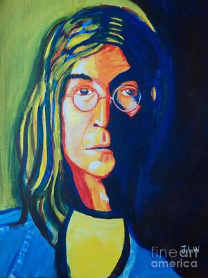 Art Print featuring the painting Lennon by Justin Lee Williams