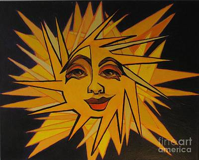 Painting - Lenny - Here Comes The Suns by Grace Liberator