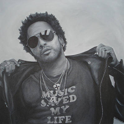 Painting - Lenny Kravitz by David Dunne