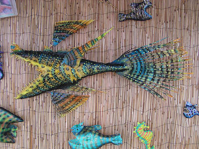 Mixed Media - Lenny The Dragon Fish by Dan Townsend
