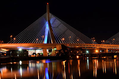 Lenny Zakim Bridge Boston Ma Art Print