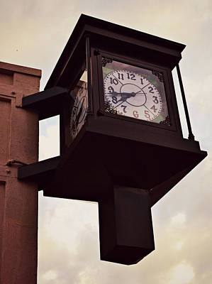 Photograph - Lenoir North Carolina Town Clock by Amber Summerow