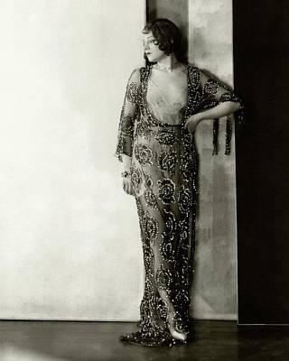 Lenore Ulric Wearing A Beaded Dress Art Print