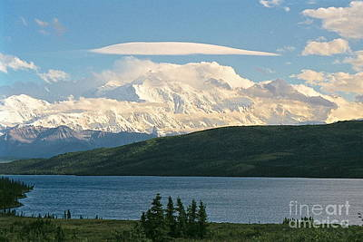 Photograph - Lenticular Cloud Over Denali by Johanne Peale