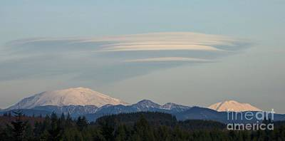 Photograph - Lenticular Cloud Over Mountains by Chalet Roome-Rigdon