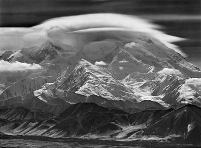 Photograph - 101366-lenticular Cloudcap Over Mt. Mckinley by Ed  Cooper Photography