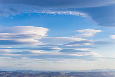 Lenticular Clouds Forming In The Troposphere Art Print by Semmick Photo