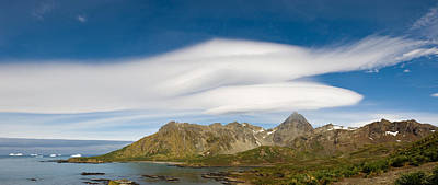 Lenticular Clouds Forming Over Cooper Art Print