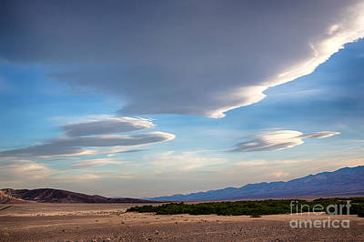 Lenticular Clouds Over Death Valley Print by Mimi Ditchie