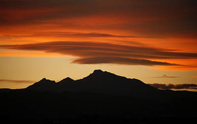 Photograph - Lenticular Clouds Over Longs Peak by Marilyn Hunt