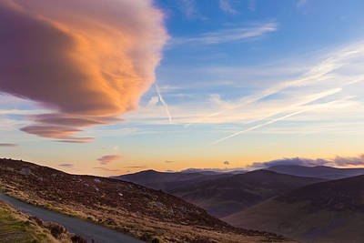 Photograph - Lenticular Clouds Over Sally Gap At Sunset by Semmick Photo