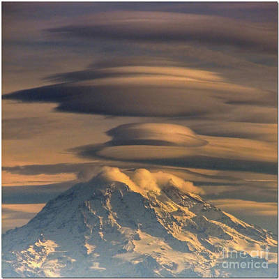 Photograph - Lenticular Rainier by Chris Anderson