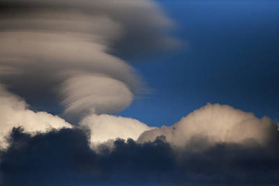 Photograph - Lentincular And Storm Clouds by Gregory Scott