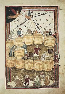 Lenzi, Domenico 14th Century. Specchio Art Print by Everett