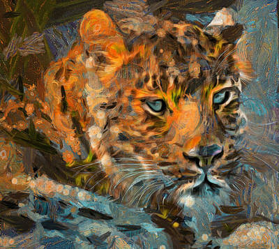 Pets Art Digital Art - Leo At Sunset by Yury Malkov