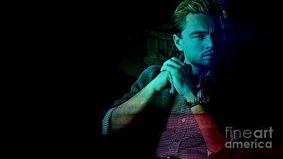 Color Image Mixed Media - Leo Dicaprio by Marvin Blaine
