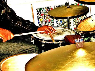 Photograph - Leo Drumming by Cleaster Cotton