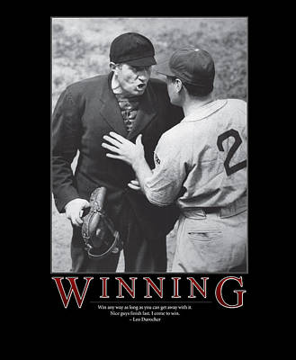 Baseball Photograph - Leo Durocher Winning by Retro Images Archive