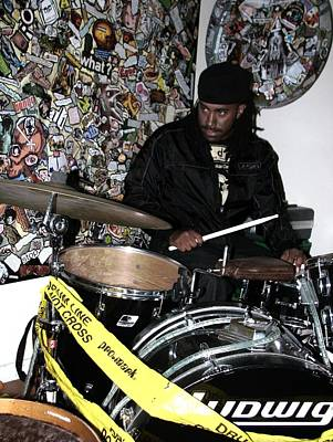 Photograph - Leo Fierce On Drums by Cleaster Cotton