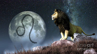 Leo Is The Fifth Astrological Sign Art Print