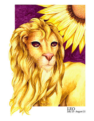 Leo Art Print by Michael Baum
