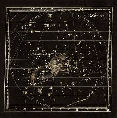 Leo Minor Constellation, 1829 Art Print