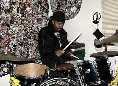 Photograph - Leo On Drums by Cleaster Cotton