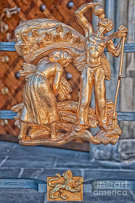 Multi Colored Photograph - Leo Zodiac Sign - St Vitus Cathedral - Prague by Ian Monk