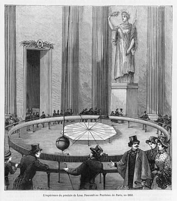 Leon Foucault Uses His  Pendulum Art Print