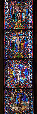 Photograph - Leon Spain Cathedral Window by Rudi Prott