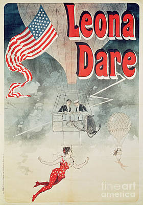 Star Spangled Banner Painting - Leona Dare by Jules Cheret