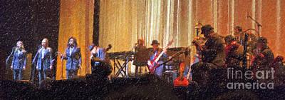 Digital Art - Leonard Cohen And His Band In Concert 2013 by Liz Leyden