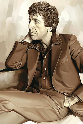 Novelist Painting - Leonard Cohen Artwork 2 by Sheraz A