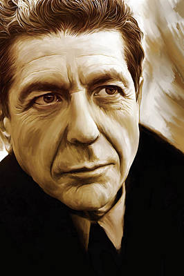 Novelist Painting - Leonard Cohen Artwork by Sheraz A