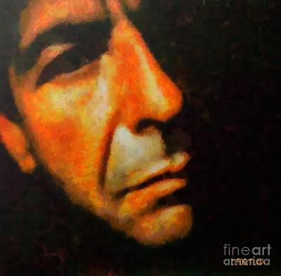 Celebrities Painting - Leonard Cohen by Dragica  Micki Fortuna