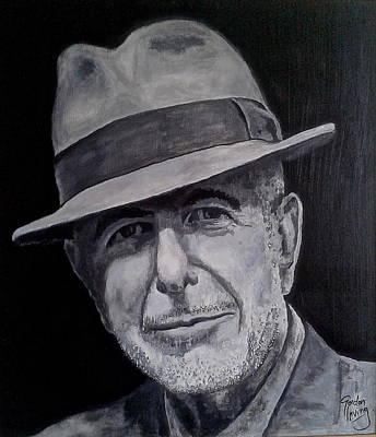 Leonard Cohen Painting - Leonard Cohen by Gordon Irving