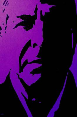 Purple Painting - Leonard Cohen by John  Nolan