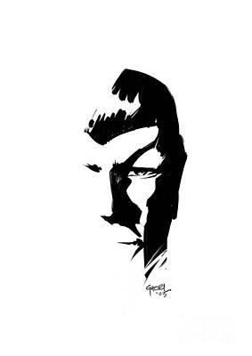 Enterprise Drawing - Leonard Nimoy Spock Tribute by Ashraf Ghori