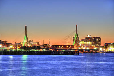 Boston Photograph - Leonard P Zakim Bridge - Boston by Joann Vitali