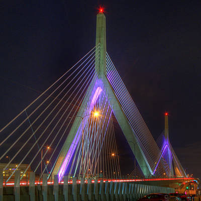 Photograph - Leonard P Zakim Bridge - Pink by Joann Vitali
